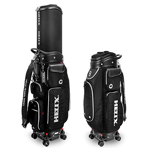 Helix-Golf Golf Bag, Easy to Carry, Retractable Sunday Golf Bag with Locking Wheels Chassis and Latest Integrated Handgrip.