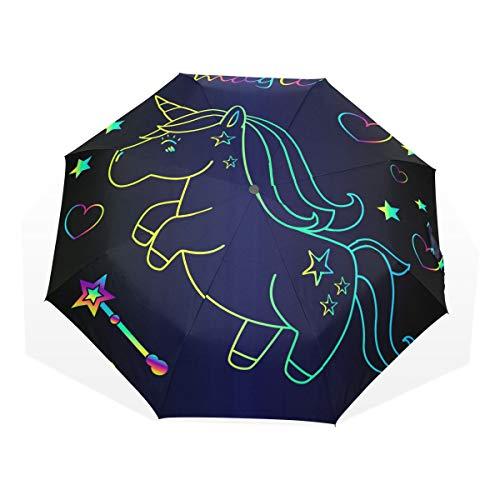 ISAOA Paraguas de Viaje automático