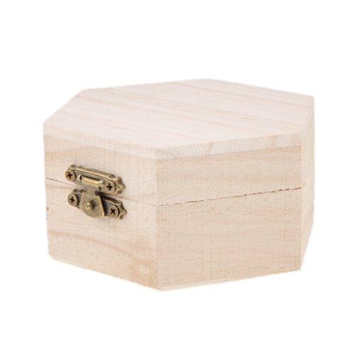 Joyero caja caso para joyas de madera DIY mesterie para niñ