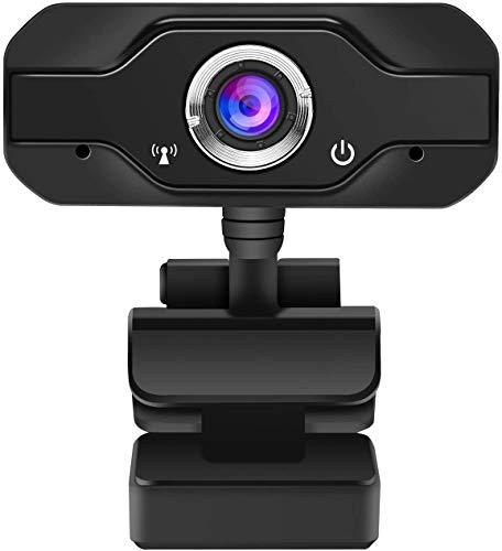 SANNCE Webcam Full HD 1080P con Micrófono Incorporado Cámara Web Portátil Compatible con Windows 7/8/10, USB 2.0 Plug and Play para Videoconferencias Remotas, Juegos de Equipo, etc.