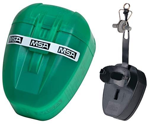 MSA MiniScape | Filter Fluchtgerät mit Mundstück und Nasenklemme | Notfall Flucht Atemschutz Maske | DIN 58647 ABEK | TabTec Filter | Passt in jede Tasche