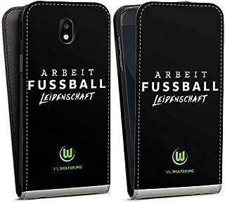 DeinDesign Flip Case kompatibel mit Samsung Galaxy J5 2017 Tasche Hülle VFL Wolfsburg Offizielles Lizenzprodukt Statement