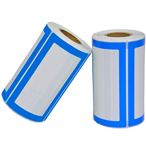 Etichette Adesive Colorate Personalizzate - 2 Rotoli da 500 Adesivi in Totale - 9 x 5 cm - Etichette Multifunzione per Barattoli, Bottiglie, Raccoglitory, Feste di Compleanno e Vestiti per Bambini