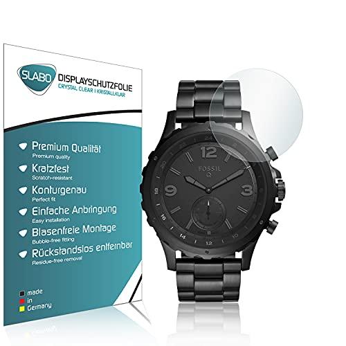 Slabo 2 x Bildschirmschutzfolie für Fossil Q Nate Bildschirmschutz Schutzfolie Folie Crystal Clear KLAR