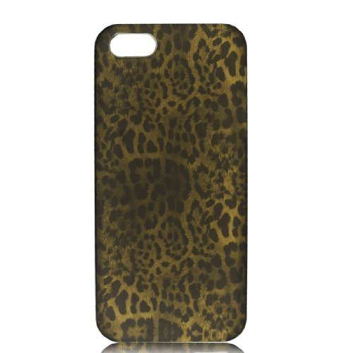 DealMux Brown Black Leopard Pattern Hard Case Cover voor de Apple iPhone 5 5 G 5 Gen