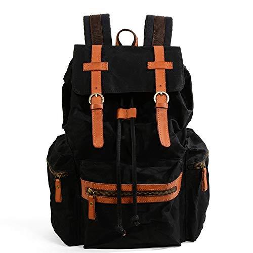 Mens Backpack Casual Daypacks Backpack For Men Women Canvas Hiking Travel School Rucksack Laptop College Large Capacity Bag Water Resistant Vintage Bookbag For Work Travel for Work, School, Travel