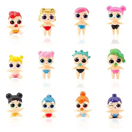 Hilloly LOL Surprise Doll Figures Set 12Pcs Mini Figuren Set Geburtstags Dekoration Cartoons Kuchen Topper Anime PVC Ornamente zur Dekoration von Kuchen, Kinder Party Dekorationen