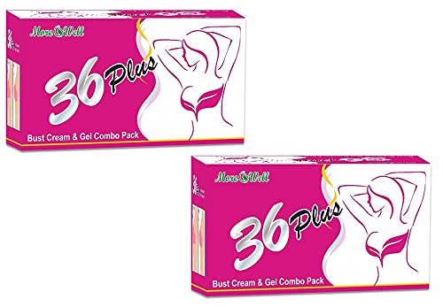 Morewell 36 Plus Bust/Breast Massage Cream & Gel for Women (Combo of 2 Piece)