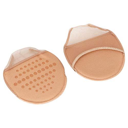 Emoshayoga Almohadilla usable para el antepié Negro/Beige para el Sudor, cojín de Esponja para el antepié, Cuidado de los pies para Mujeres(Color)
