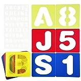 Cizen Plantilla de Letras y Números, 26 Plantillas de Letras Alfabetos (A-Z) + 10 Plantillas de Números (0-9), Adecuado para el Aprendizaje, Pintura, Scrapbooking y Manualidades DIY