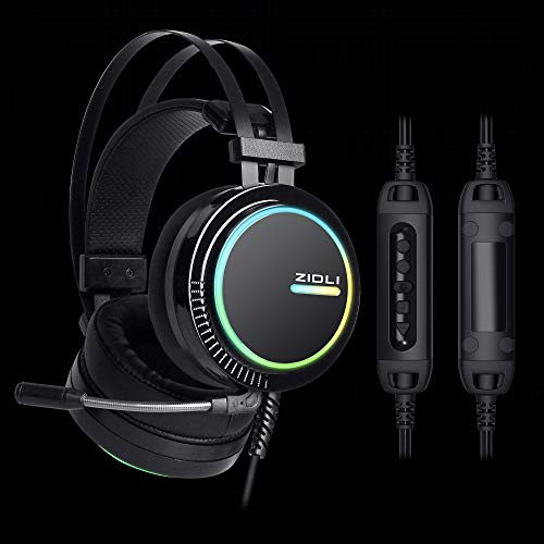 Best RGB Seven Color Lighting Gaming Headset ZH 11 7.1 Surround Sound Stereo with Control Panel for PS4, PC