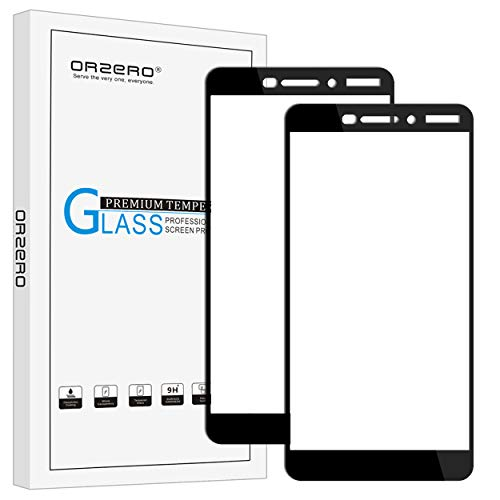 (2 Pack) Orzero Compatible for Nokia 6.1 2018, Nokia 6 (2018 Version) Tempered Glass Screen Protector, 2.5D Arc Edges 9 Hardness HD Anti-Scratch Full-Coverage (Lifetime Replacement)