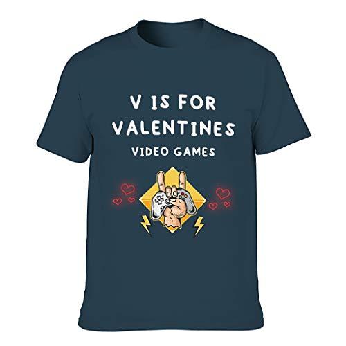 FFanClassic Camiseta de algodón para hombre V es para San Valentín Videojuegos Colorido - Manga corta