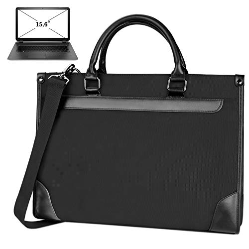 NEWHEY Laptop bag 15.6 inch Water Repellent Briefcase Shoulder Messenger Bag Laptop Case Computer Bag Business Carrying Handbag for Men Women Black