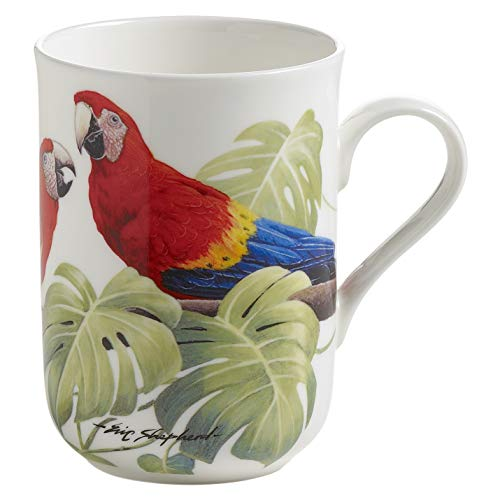 Maxwell & Williams Birds of the World Kaffeebecher, Porzellan, Mehrfarbig, 17.5 cm