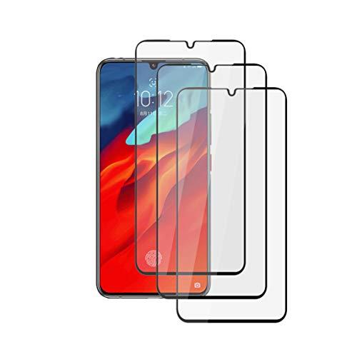 "XunEda Lenovo Z6 Pro 6.39"" Protector de Pantalla, Protector Completo Cristal Templado Alta Definicion Cristal Screen Protector para Lenovo Z6 Pro Smartphone (Negro-3 Pack)"