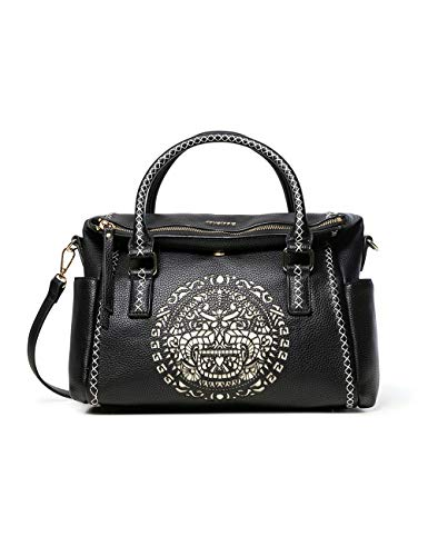 Desigual Bols_tribal Loverty - Bolso con asa, color Negro, talla 14x24x33 cm (B x H x T)