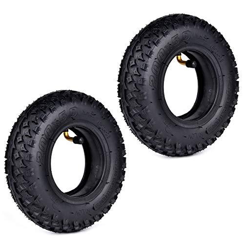 2 juegos de neumáticos y cámara de aire de 200 x 50 (8 x 2) para Dirt Scooter Knobby y cámara de aire de repuesto para Razor Pro RDS Dune Buggy Pneumatic Tyre
