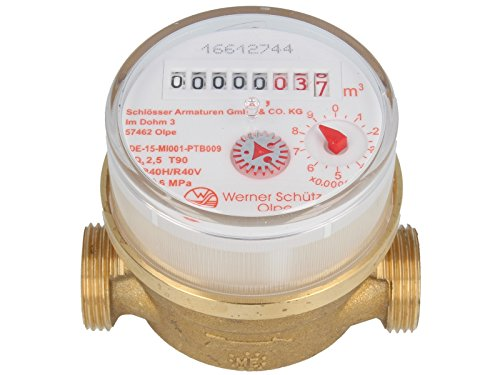 SCHÜTZ Einstrahlzähler ETW 1/2-80 mm - Q3=2,5 / R40 geeicht bis 2023