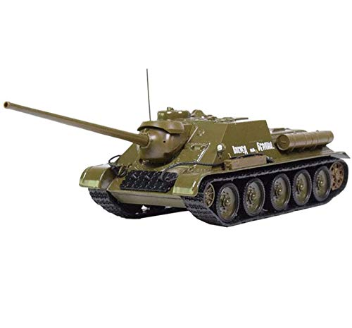 CMO Panzer Modelle Metall 1:43, TSU-100 Panzerzerstörer UDSSR, Druckguss Militär Tank, Kinderspielzeug und...