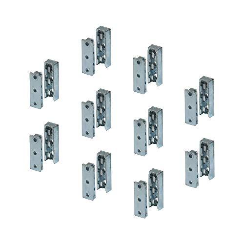 Gedotec Möbelverbinder verdeckt Bettverbinder SOLID Korpusverbinder aus Metall | Einhänge-Verbinder Beschlag für Betten, Möbel & Metallbau | Tragkraft bis 250 kg | 10 Set - Holzverbinder unsichtbar