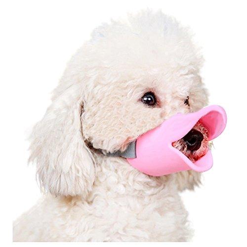 Hotumn Maulkorb für Hunde, Anti-Beiß-Mundmasken, Entenform, Haustier-Mund-Set, hält Menschen und Tiere sicher mit gutem Silikon-Material.