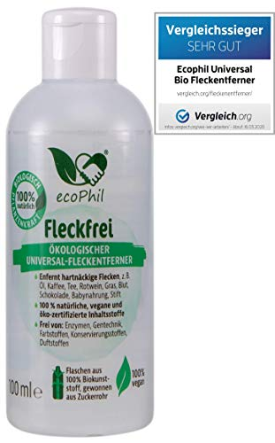 ecoPhil Bio Universaler Fleckenentferner - Entfernt hartnäckige Flecken - 100ml - Vegan - Made in Germany