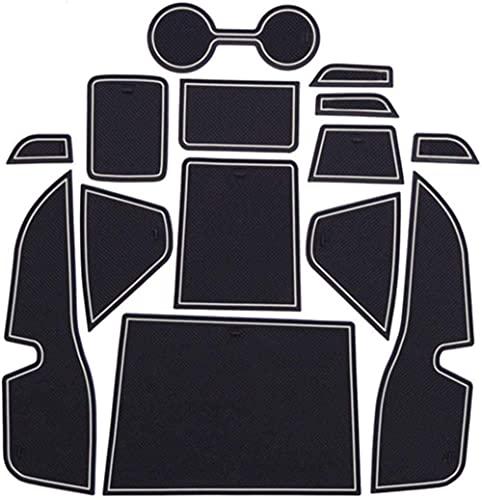 Car Anti-dust Non-Slip Mats, for Kicks Murano Z52 2015-2020 Door Slot Pad Mat Fluorescence Latex Pad Cup Holder Pad Decoration Kits