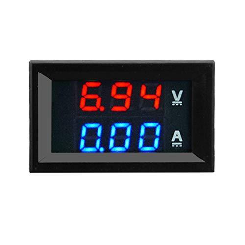 Misuratore voltmetro digitale CC 100V 10A Amperometro + display bicolore rosso LED Amplificatore LED digitale doppio volt Misuratore 2 in1 ToGames-IT
