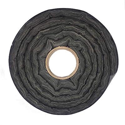 Glass Fireplace Door Insert Fiberglass Insulation Sealing Kit Black 10 Feet Long by Marco International Inc