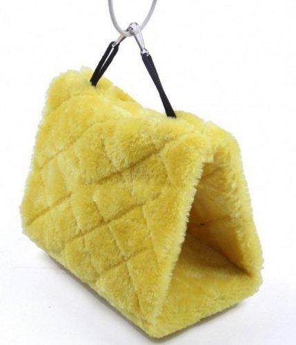 L Taille Yellow Bird Hamac suspendu Cage en peluche câlin Bonne Hut tente lits superposés Parrot Toy