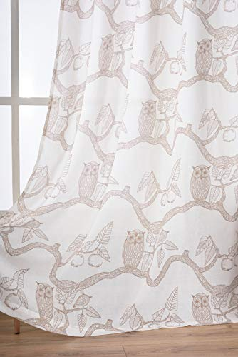 Sheer Owl Curtains