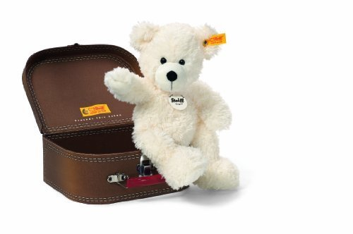 Steiff Lotte Teddy Bear In Suitcase Plush, White by Steiff