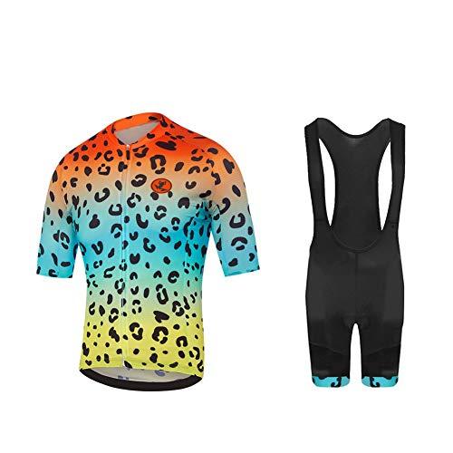 UGLY FROG Moda Maglia Ciclismo Jerseys per Uomo Corta Manica Tuta Estivo + Pantaloni Corti di Ciclismo; Abbigliamento Ciclismo Sportivo Professionale Traspirazione Comodo XTNL03