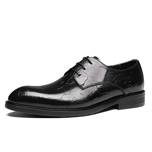 Spitz Oxford Schuhe Leder Herren Britischen Elegante Schuhe Lace-up Business Schuhe Anzug Brautkleid Schuhe Schwarz EU-Größe 38-44 (Farbe : Schwarz, Größe : 40 EU)