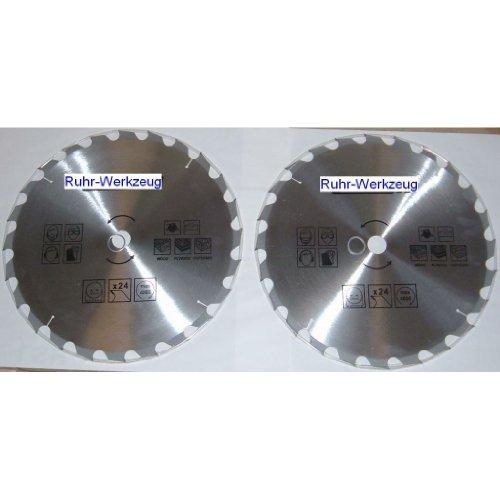 Consommation Lot : Lot de 2 lames de scie circulaire en métal dur 400 MM/30 MM Alésage 24 Zähne 25