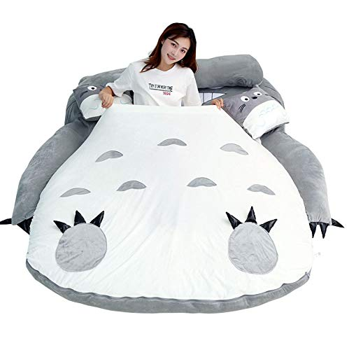 VIVICL Tatami Mattress My Neighbor Totoro Cartoon Lazy Sofa Bed Sleeping for Children Lovely Creative Dormitory Mattress Foldable Small Bedroom Double Bed,12080cm