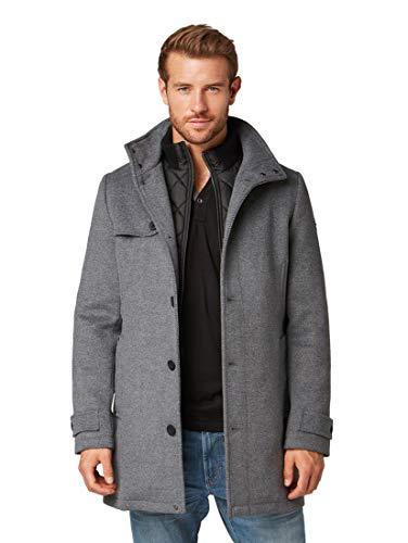 TOM TAILOR Herren 2 In 1 Woll Mantel, Grau (Mid Grey Wool Jacket 13125), XL