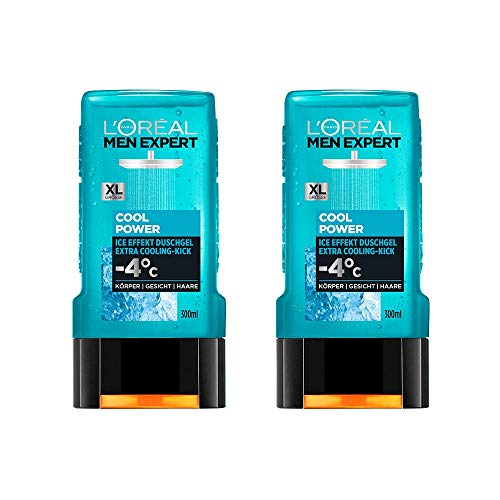 L'Oréal Paris Men Expert Duschgel Cool Power, 2er Pack (2 x 300 ml)