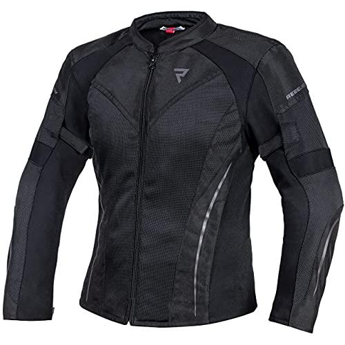 REBELHORN Flux Lady Chaqueta de moto para mujer Materiales duraderos Membrana...