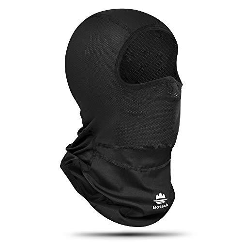 EXski Sturmhaube Gesichtshaube Balaclava Sonnen-UV-Schutz Sturmhaube Fahrrad Motorrad Atmungsaktiv Schlauchtuch für Damen & Herren (Schwarz)