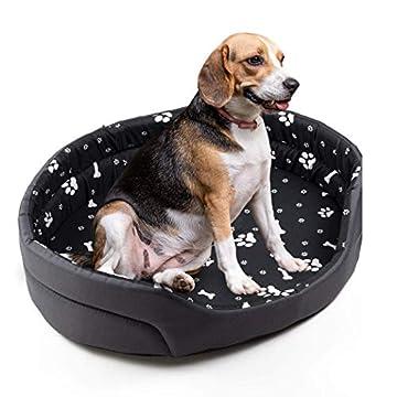 Größe XS: 43 x 36 x 12 cm Das Bett ist für kleine, mittlere und große Hunde ausgelegt; natürlich von der ausgewählten Größe abhängig. Es eignet sich auch problemlos für Katzen. Wenn Ihnen maximaler Komfort an Ihrem Haustier liegt, dann ist das Bett i...
