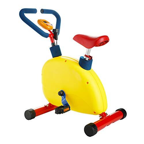 Sandinrayli Kids Exercise Equipment, Toddler Exercise Bike w/Adjustable Seat, Indoor Play Equipment for Kids