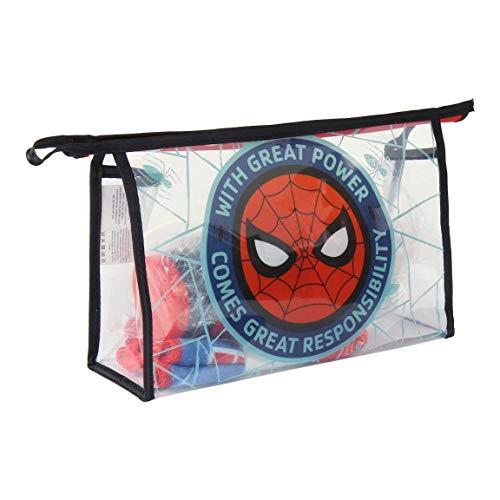 Artesania Cerda Spiderman, Neceser Set Aseo/Viaje, 23 cm, Rojo