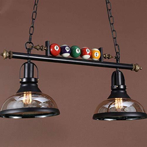 Retro Pendelleuchte, LED-Leuchter, industrieller Leuchter E27, kreative Billardlampe, Restaurant Bar Ausstellungshallen,Billardtisch Dekoration Lampe,40W,B