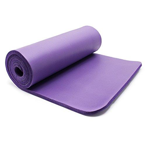 WilTec Esterilla Yoga Violeta 190x100x1.5cm colchoneta Suelo Gimnasia Deporte Antideslizante extragruesa