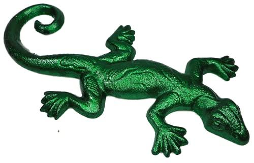 Gtt F237 - Salamandra de hierro fundido (24 x 12 cm), color verde metálico
