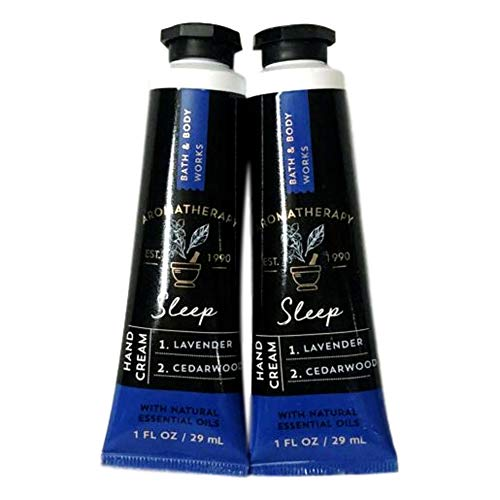 Bath and Body Works 2 Pack Aromatherapy Sleep Lavender & Cedarwood Hand Cream. 1 oz