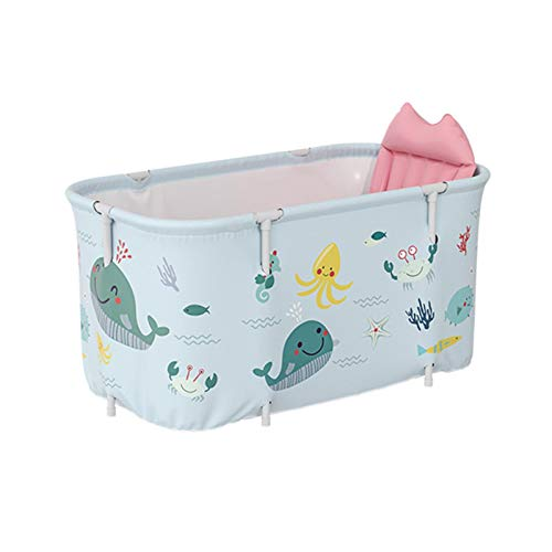 PW TOOLS Bañera Plegable portátil para remojo, bañera Independiente, no Inflable, Cubo de baño Independiente para Adultos del hogar, 120x55x50cm
