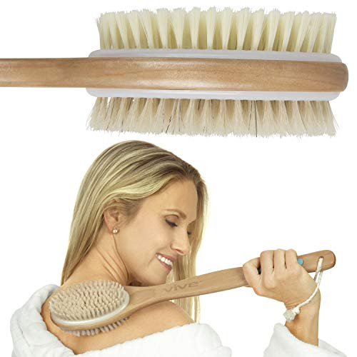 Vive Shower Brush - Dry Skin Body Exfoliator - Shower and Bath...